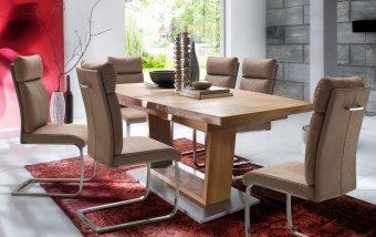 Jídelní set pro 6 osob - stůl CANTANIA B + židle RABEA
