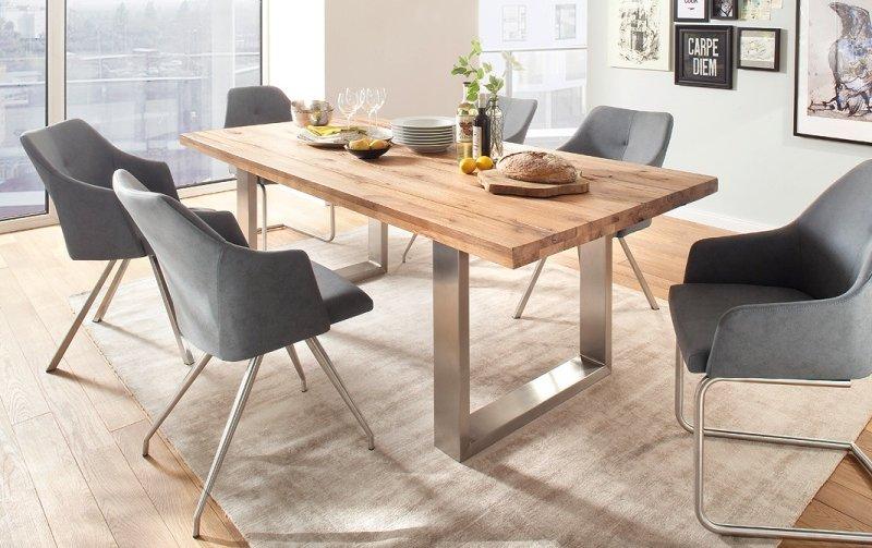 Jídelní set pro 6 osob - stůl CASTELLO + židle MADITA