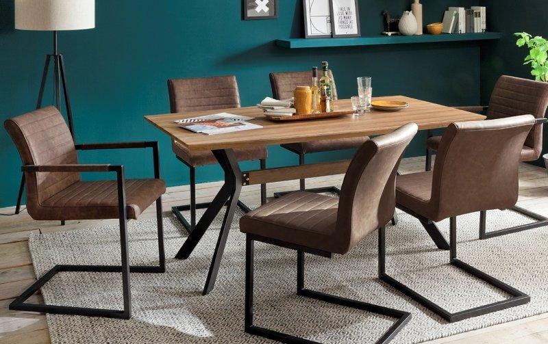 Jídelní set pro 6 osob - stůl ELIOT + židle KIAN A
