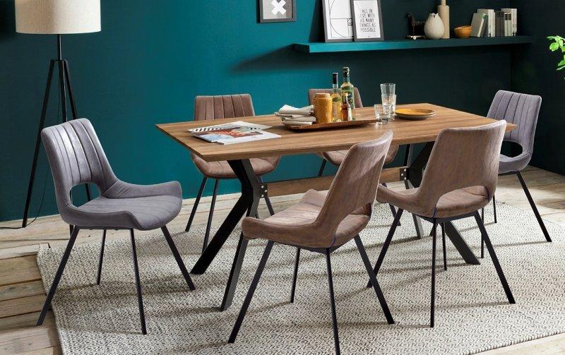 Jídelní set pro 6 osob - stůl ELIOT + židle OLYMPIA