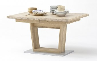 Rozkládací jídelní stůl ESPERO (typ 61) dub sukatý bělený