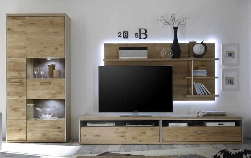 Nábytek do obývacího pokoje ESPERO III dub sukatý bělený