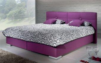 Čalouněná postel s úložným prostorem FACILE 180x200