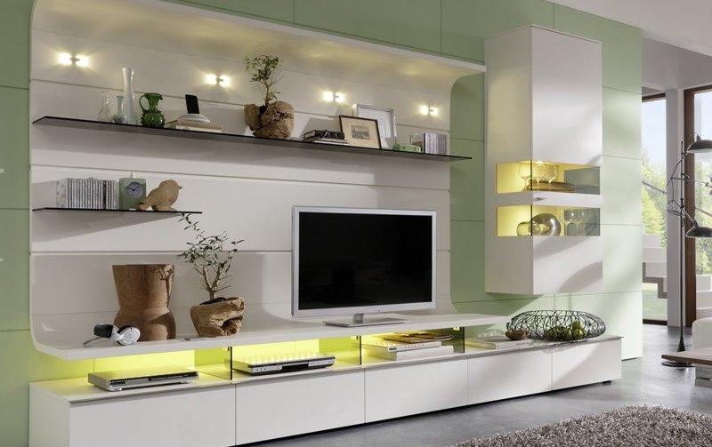 Obývací stěna FELINO bílý lak