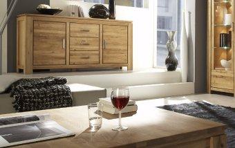 Konferenční stolek z dubového masivu - FARO dubový konferenční stolek 100x100 (typ 40)