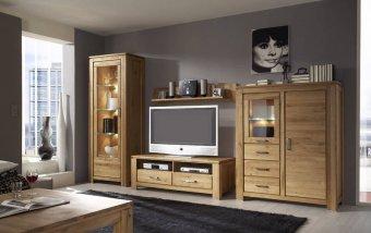 Dubový nábytek z masivu do obývacího pokoje a jídelny - FARO dub sukatý