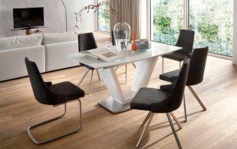 Jídelní set pro 6 osob - stůl ILKO + židle ELARA
