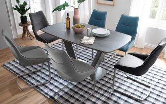 Jídelní set pro 6 osob - stůl JARUK + židle ALDRINA