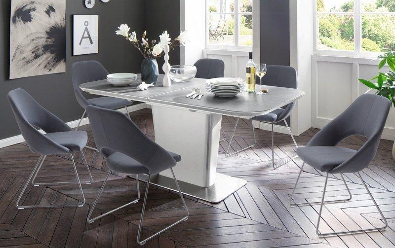 Jídelní set pro 6 osob - stůl KOAMI + židle DAJANA