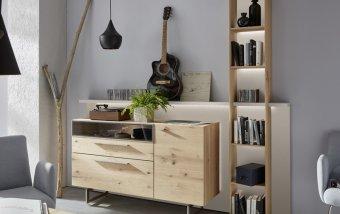 Obývací stěna LAREDO dub přírodní/bílý lak