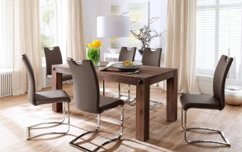 Jídelní set pro 6 osob - stůl LEEDS + židle KOELN