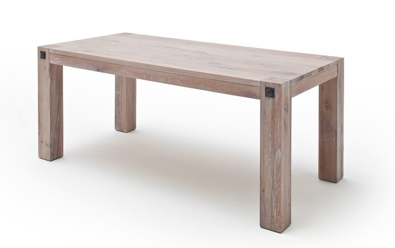 Jídelní stůl z masivu LEEDS dub bělený