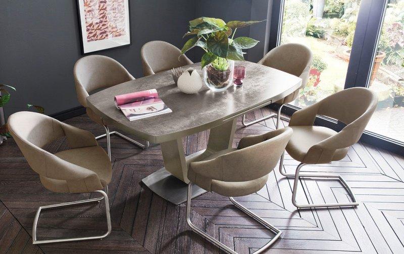 Jídelní set pro 6 osob - stůl LEANDRO + židle PALEO