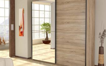 Šatní skříň s posuvnými dveřmi LIFE IV dub sonoma
