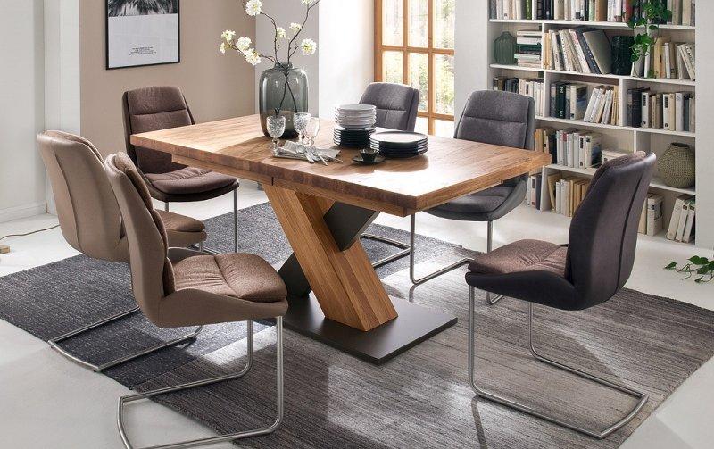 Jídelní set pro 6 osob - stůl MENDOZA A + židle BAKU