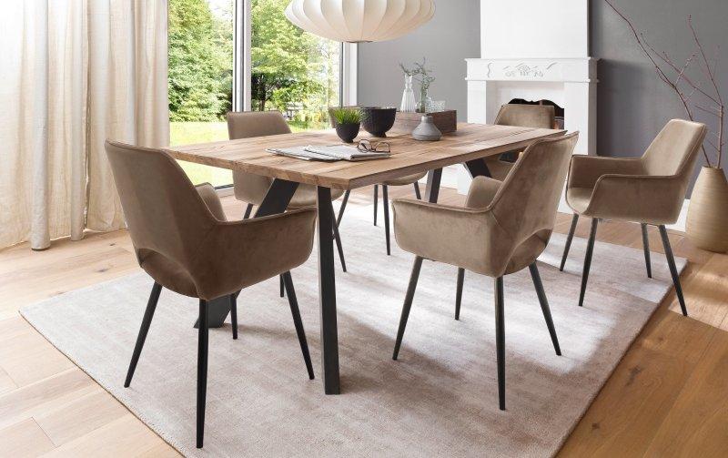 Jídelní set pro 6 osob - stůl MILTON + židle SAMOS