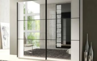 Šatní skříň s posuvnými dveřmi ORSK matná bílá