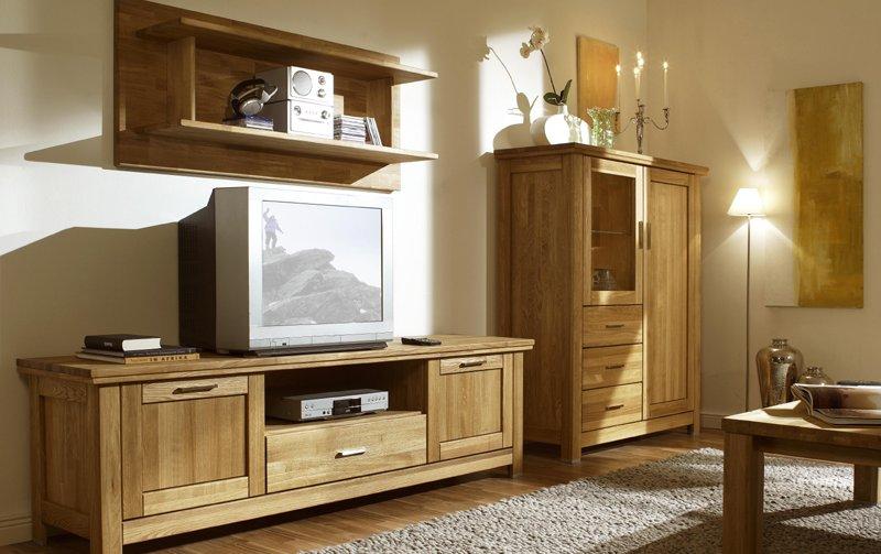 Dubový nábytek z masivu do obývacího pokoje a jídelny - PORTO dub olejovaný