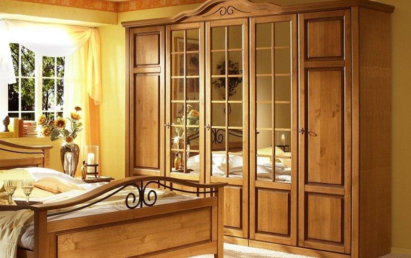 Šatní skříň 5D SAN 69 borovice medová