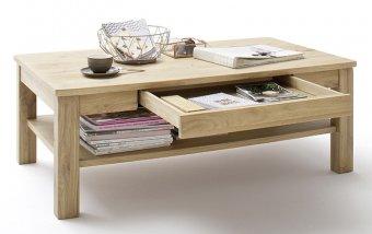 Konferenční stolek SANTORI dub sukatý bělený