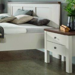 Noční stolek SLOANE champagne/tmavý dub nocce