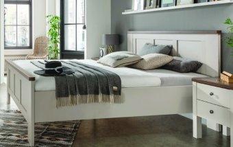 Moderní postel z lamina SLOANE champagne/tmavý dub nocce