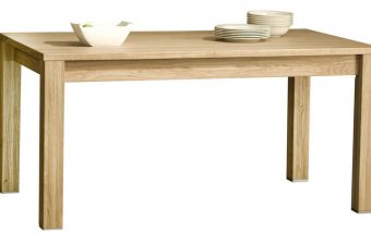 Dubový jídelní stůl rozkládací 90x140-200 ATLANTA/Helsinki 42