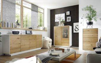 Nábytek do obývacího pokoje TOULON 2 dub sukatý/bílá