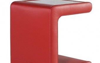 Luxusní čalouněný kožený noční stolek