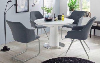 Jídelní set pro 4 osoby - stůl WARIS + židle MADITA