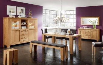 Dubový nábytek z masivu do jídelny LOFT