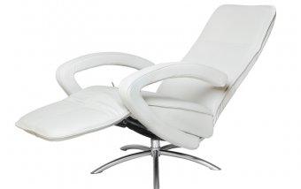 Otočné a relaxační kožené křeslo AIR