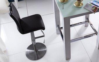 Barová otočná židle ALESI ekokůže
