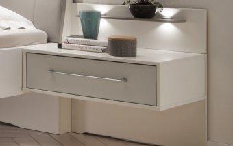 Noční stolek ALASKA bílá/šedá