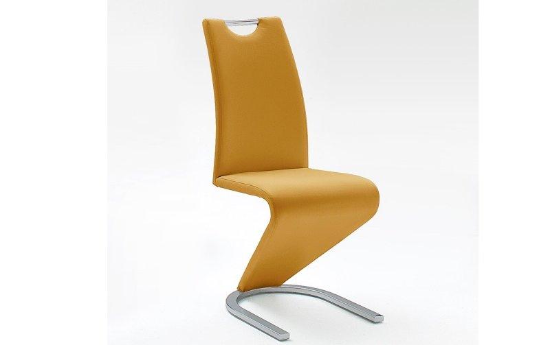 Moderní jídelní židle AMADO ekokůže curry