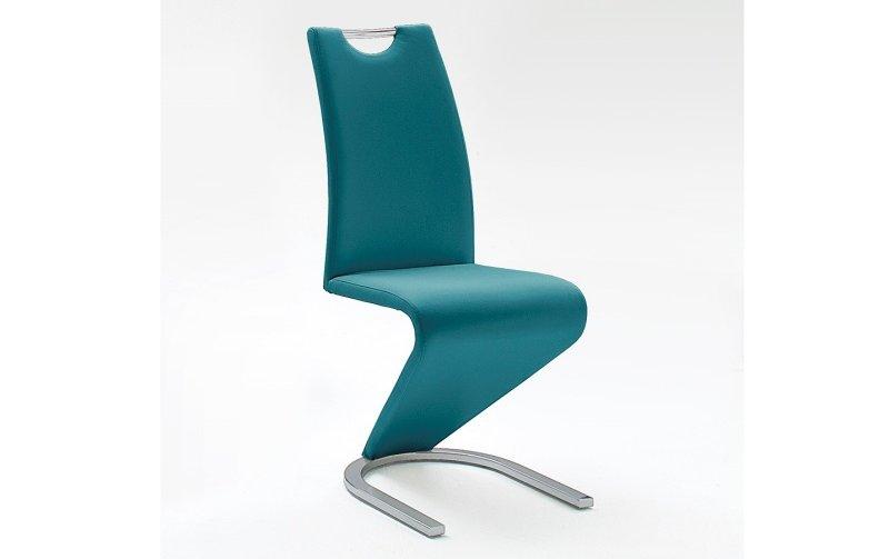 Moderní jídelní židle AMADO ekokůže petrol