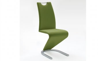 Moderní jídelní židle AMADO ekokůže olive
