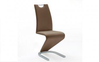 Moderní jídelní židle AMADO ekokůže hnědá