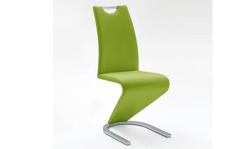 Moderní jídelní židle AMADO ekokůže lime