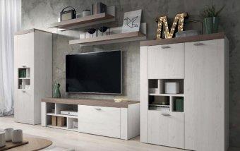 Moderní obývací stěna AMY sibiřský modřín