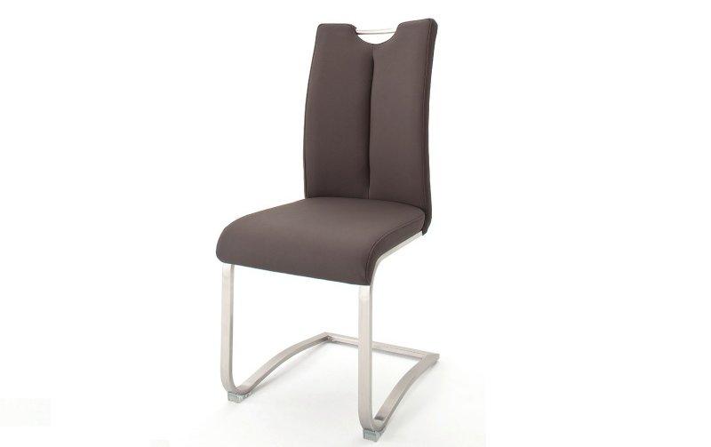 Židle jídelní ARTOS ekokůže hnědá