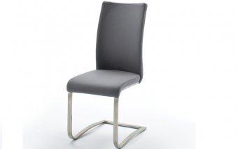Židle jídelní ARCO ekokůže šedá