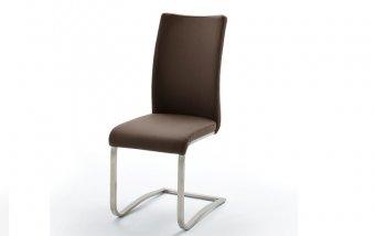 Židle jídelní ARCO ekokůže hnědá