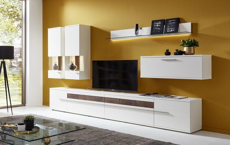 Obývací stěna ATENA 1 ořech/bílá