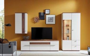 Obývací stěna ATENA 1 krémová/ořech