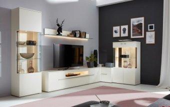 Bílá obývací stěna ATENA 1