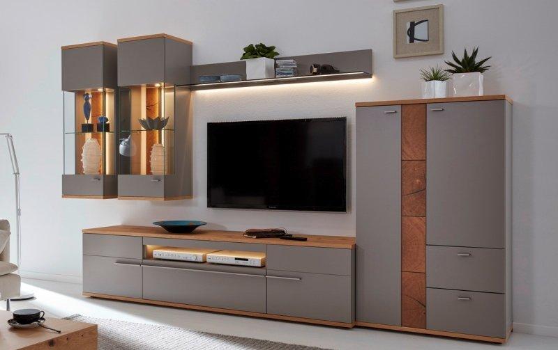 Obývací stěna ATENA 3 fango/dub medový