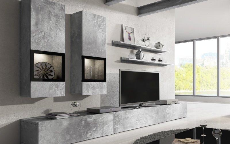 Moderní obývací stěna BAROS dekor beton