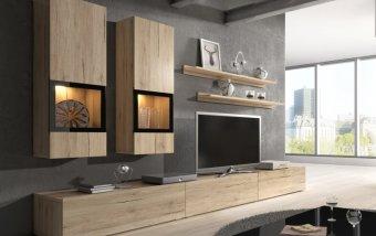 Moderní obývací stěna BAROS dub San Remo