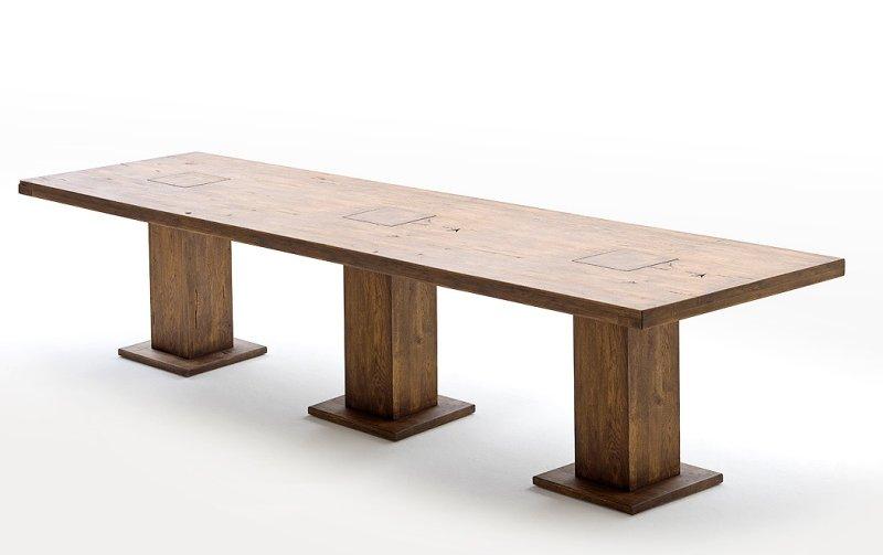 Jídelní stůl MANCHESTER tmavý dub masiv -bassano